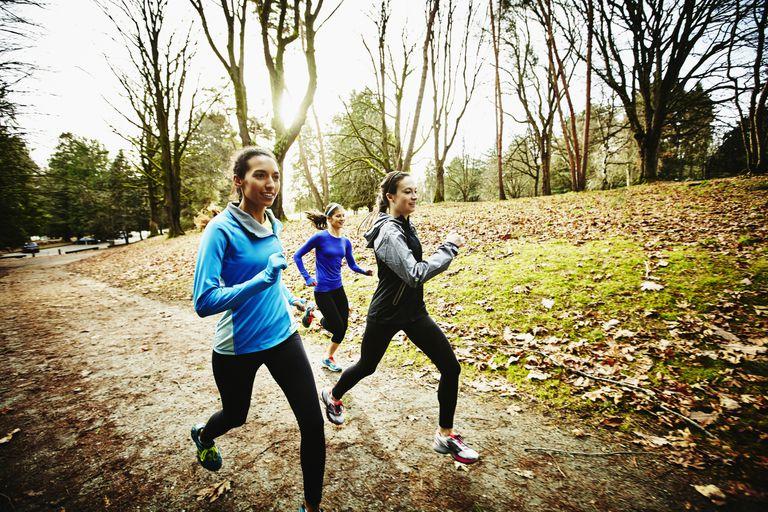 Women jogging outside