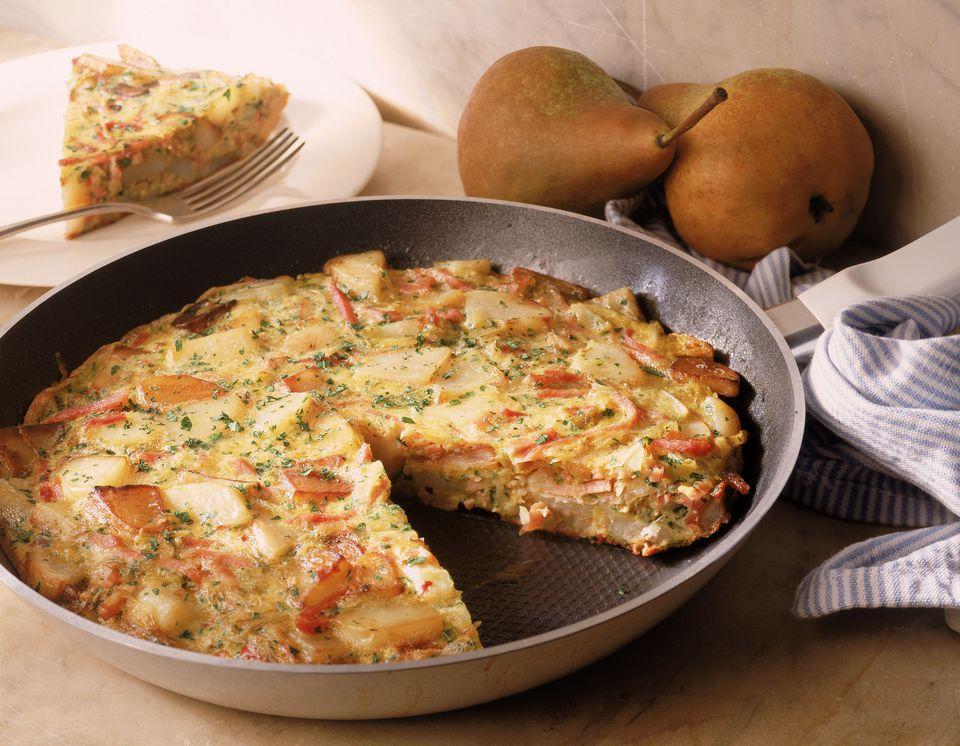Spanish potato and onion frittata