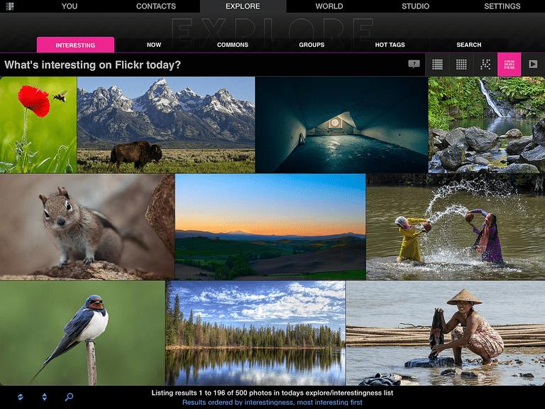 Flickr Studio iPad App