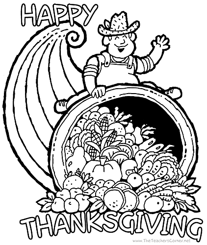 hard coloring pages for thanksgiving - photo#8