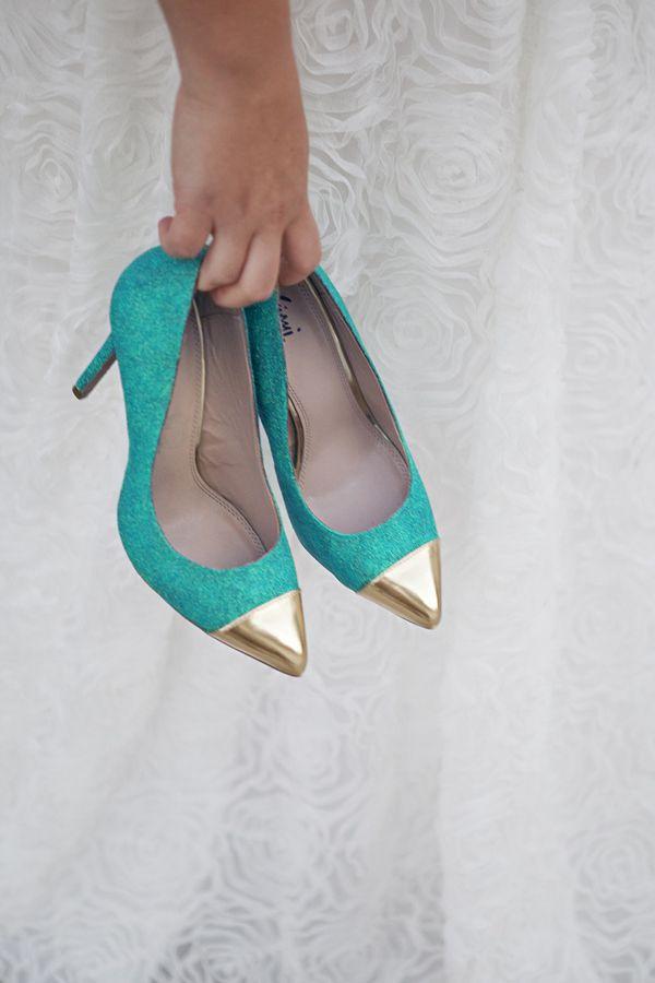 DIY Glitter High Heels