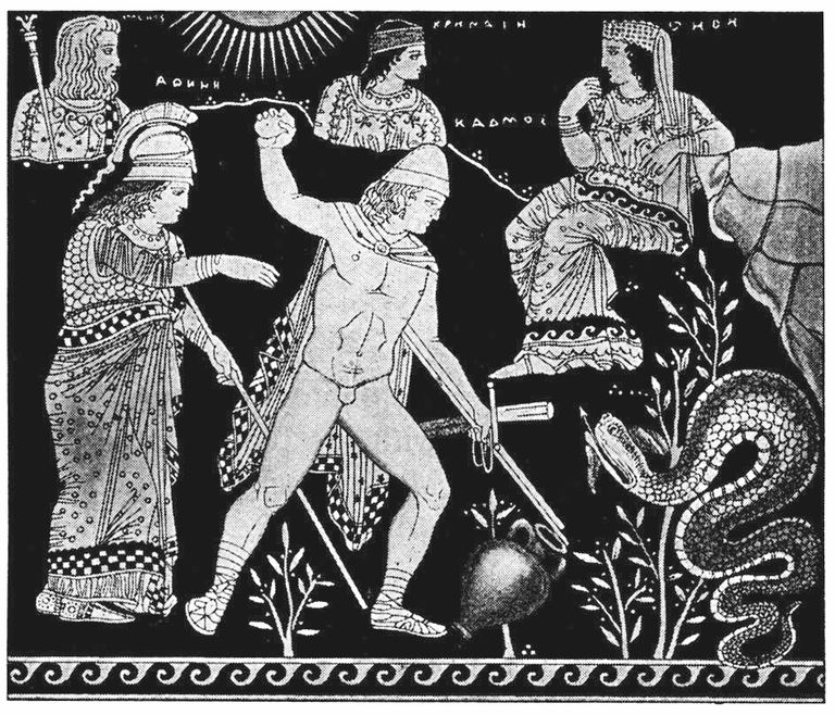 Cadmus, Athena, and Dragon