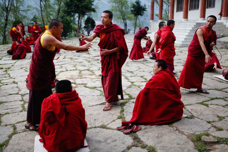 Bhutanese monk debates