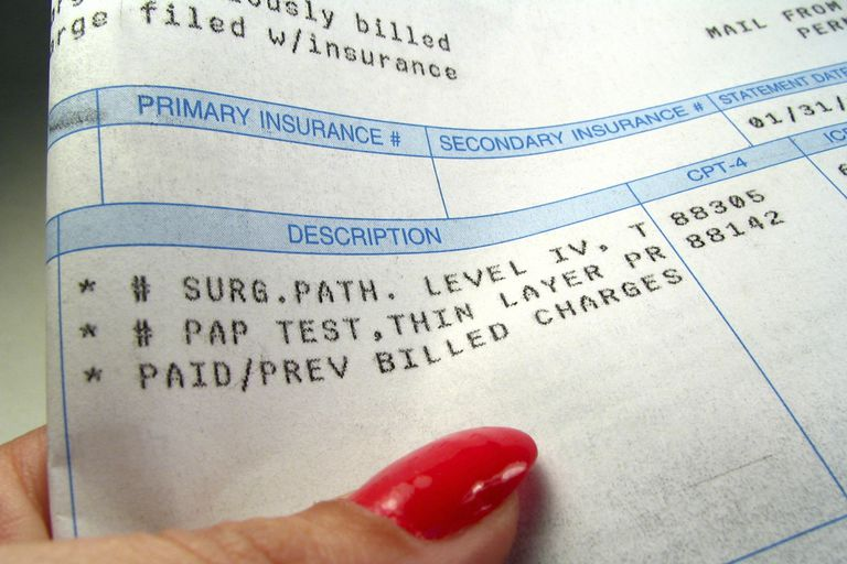 Charges on a medical bill.