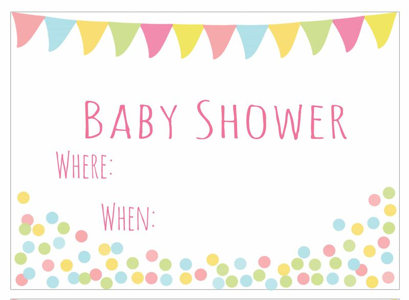 25 adorable free printable baby shower invitations baby shower banner invitation filmwisefo Choice Image