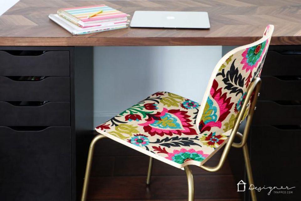 fabric decoupaged chair