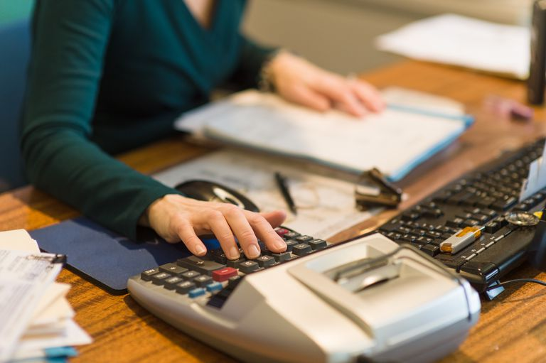 Accountant Entering Numbers