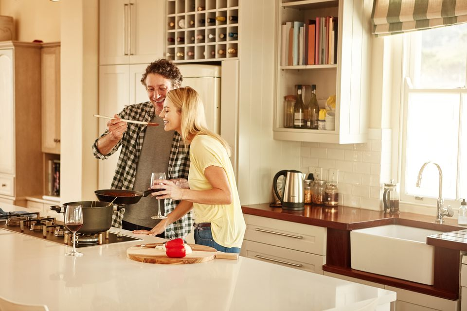 Make cooking with your significant other a fun, flirty adventure