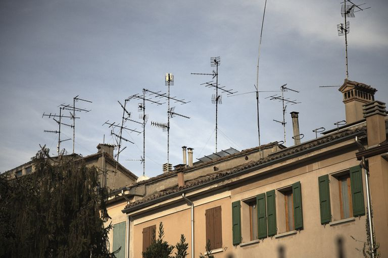 Antennas on top of houses