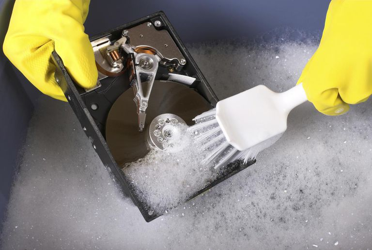 Cleaning hard drive