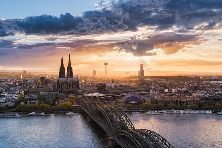 Cologne and Rhine river, Germany