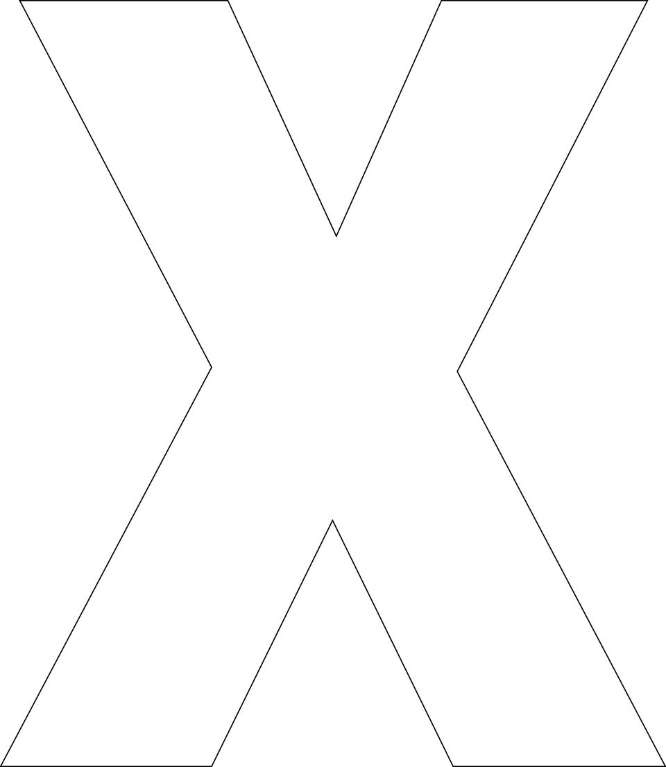 Free printable alphabet template upper case free printable x template spiritdancerdesigns Choice Image