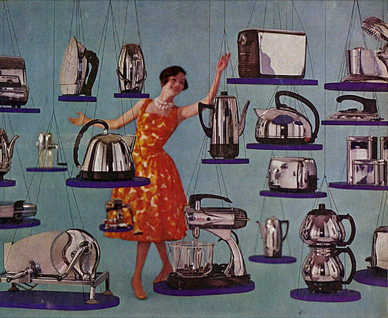 """""""Vintage Ad #1,412: Nickel-Chrome Appliances Are So Right For Modern Living"""" by Jamie is licensed under CC BY 2.0"""