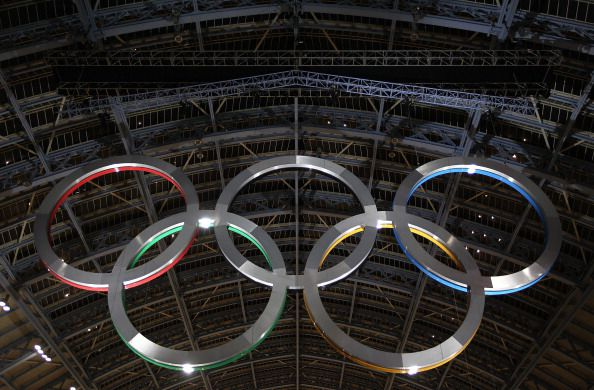 Olympic Rings at St. Pancras in London
