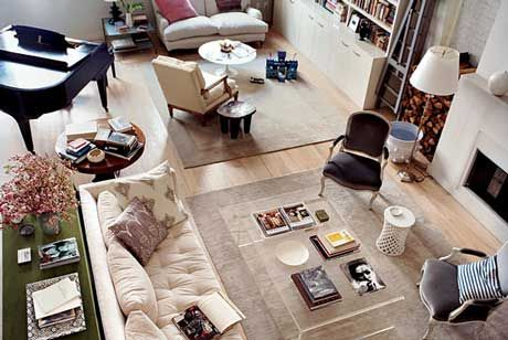 Beautifully Designed And Organized Living Room From Domino Magazine