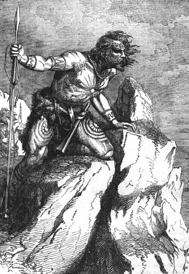 A Caledonian or Pict, as represented in a 19th-century history book