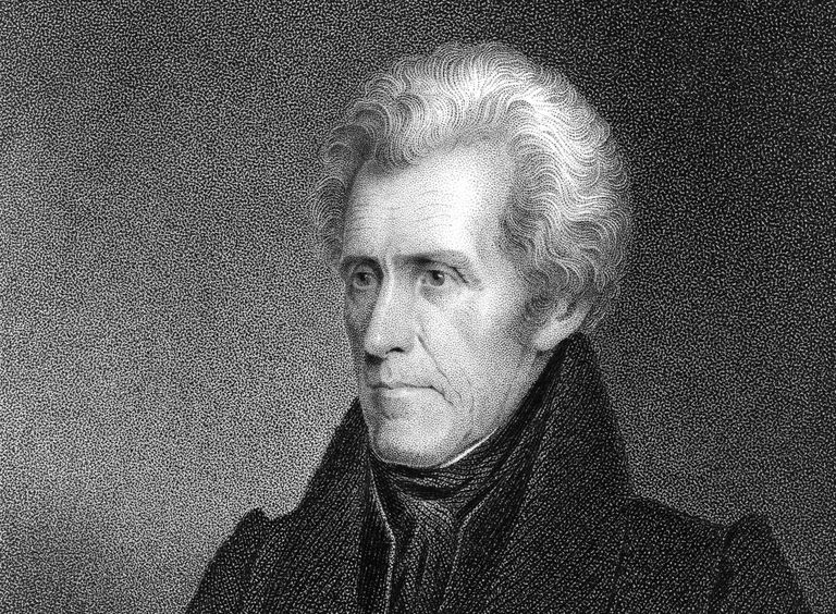 Engraved portrait of Andrew Jackson
