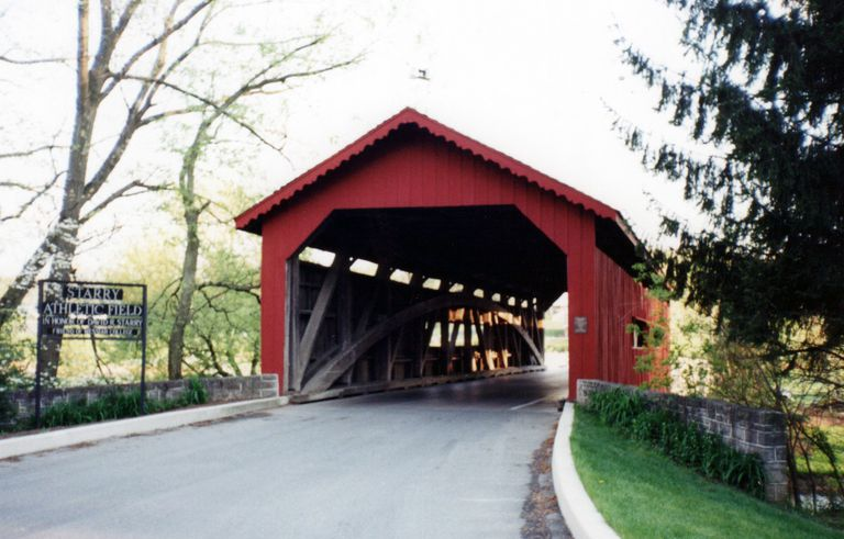 Covered Bridge on the Messiah College Campus