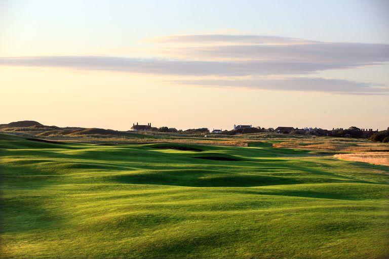The par 4, 1st hole at Royal St George's Golf Club