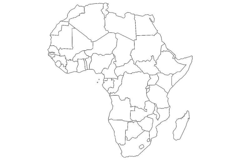 Blank Maps Of The US And Other Countries - Empty map of africa