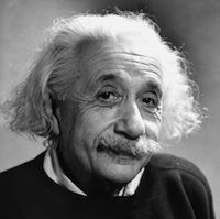 German-born American physicist Albert Einstein. Photo by Fred Stein Archive/Getty Images.