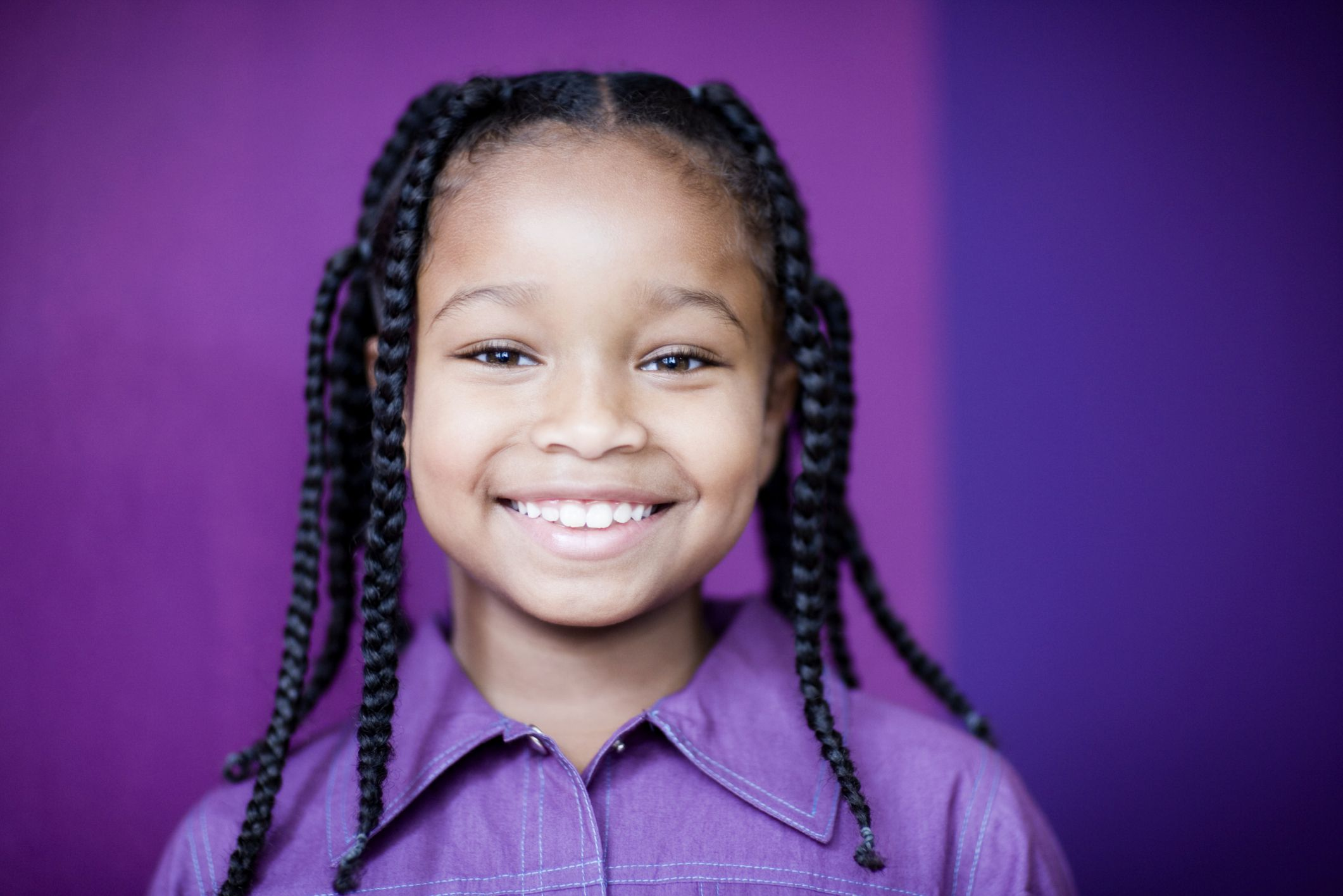 Self straight perm kit - Girl With Braids For Stretching Curls