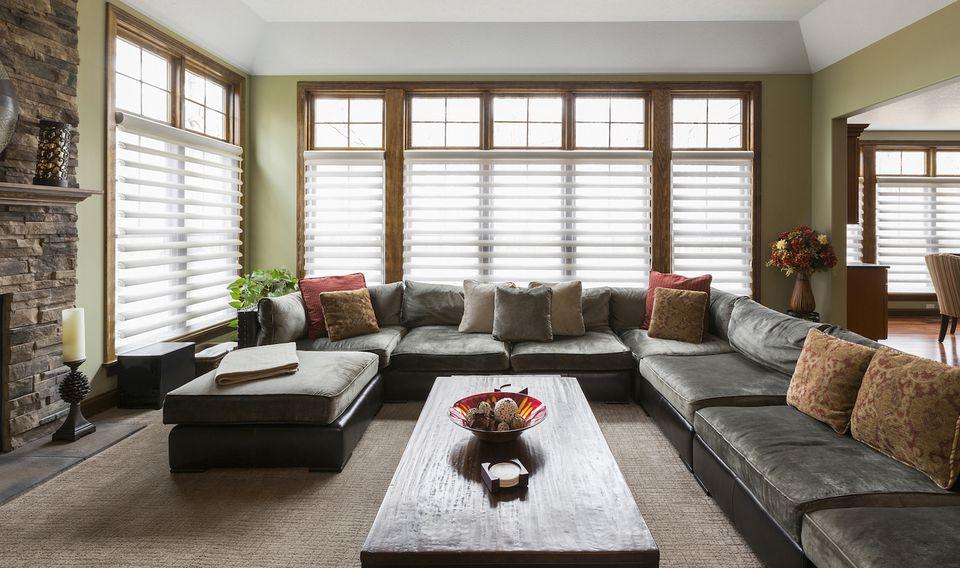 window blinds living room ideas