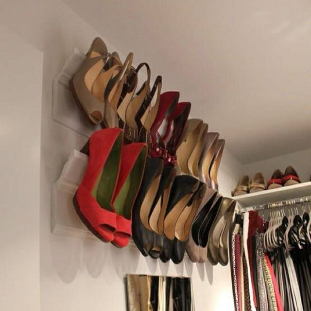 Crown Molding as a Shoe Rack. The Best DIY Shoe Storage Ideas
