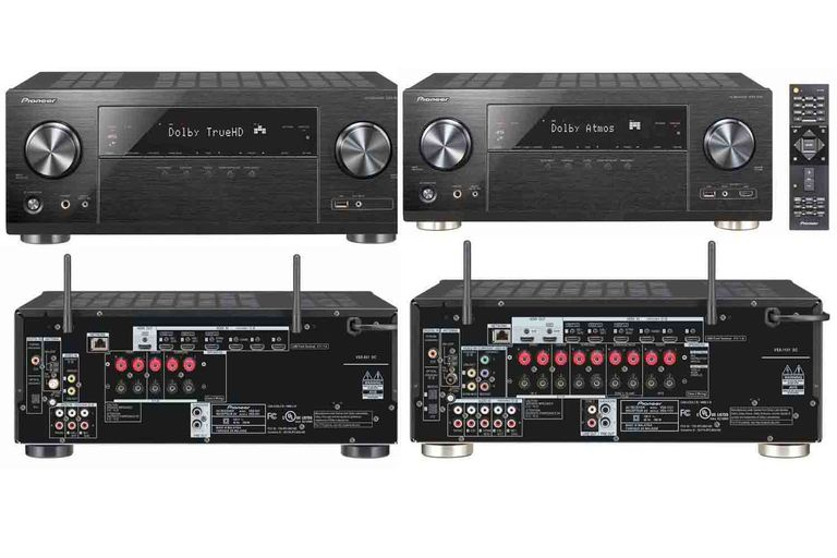 Pioneer VSX-831 (left) and VSX-1131 (right) Home Theater Receivers