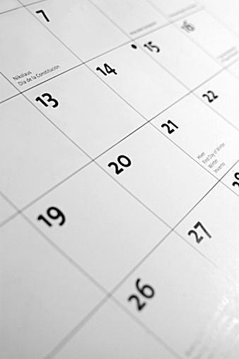 Picture of a calendar.