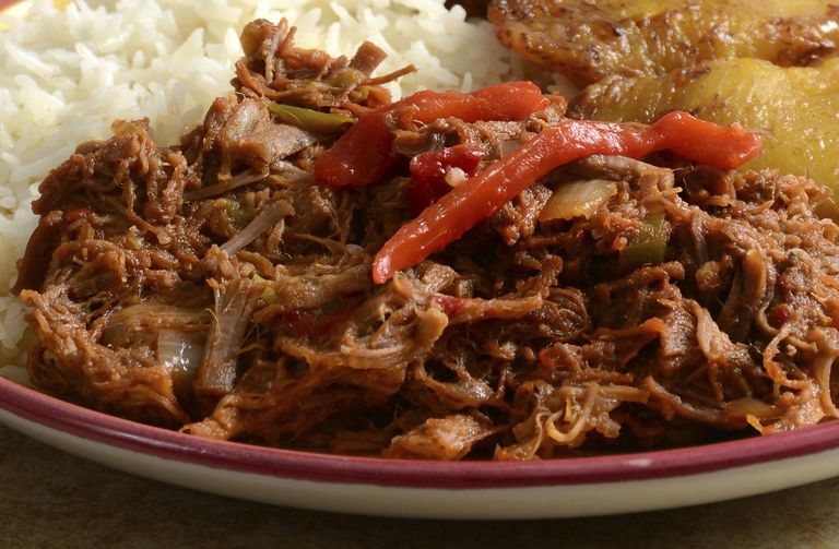 close up of Ropa Vieja on a plate