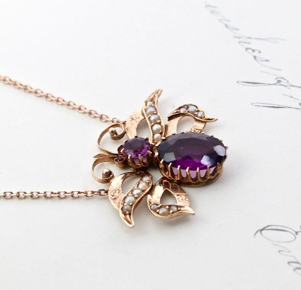 Art Nouveau Rose Gold Jewelry