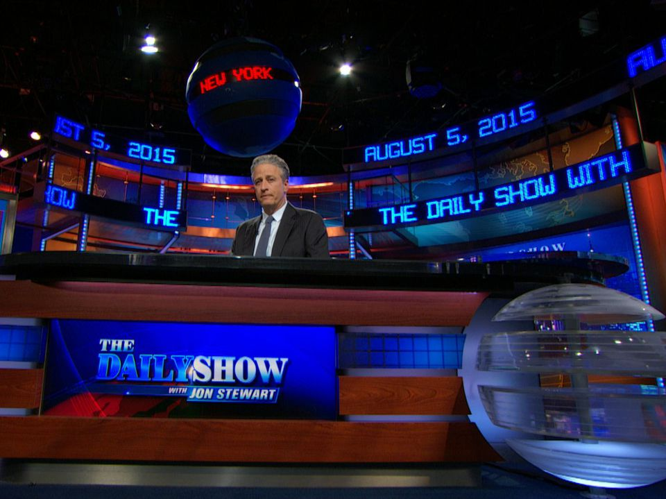 The Daily Show with Jon Stewart set at The Newseum