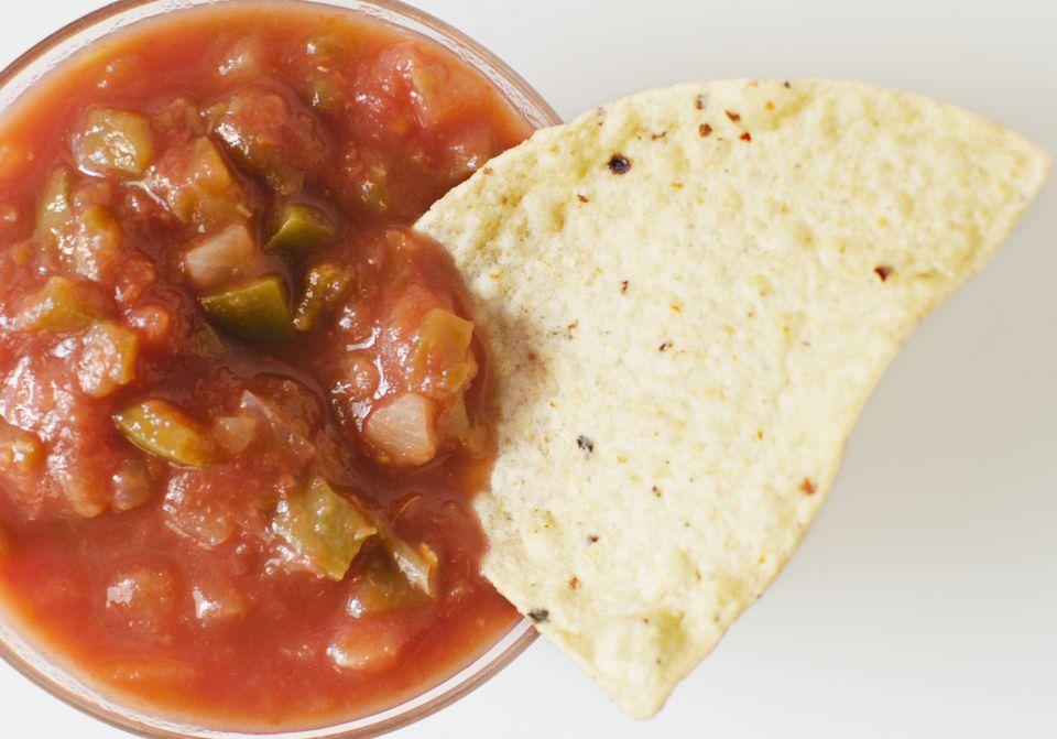 Tortilla chip and salsa
