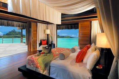 Interior Of An Overwater One Bedroom Villa At The St Regis Bora Resort