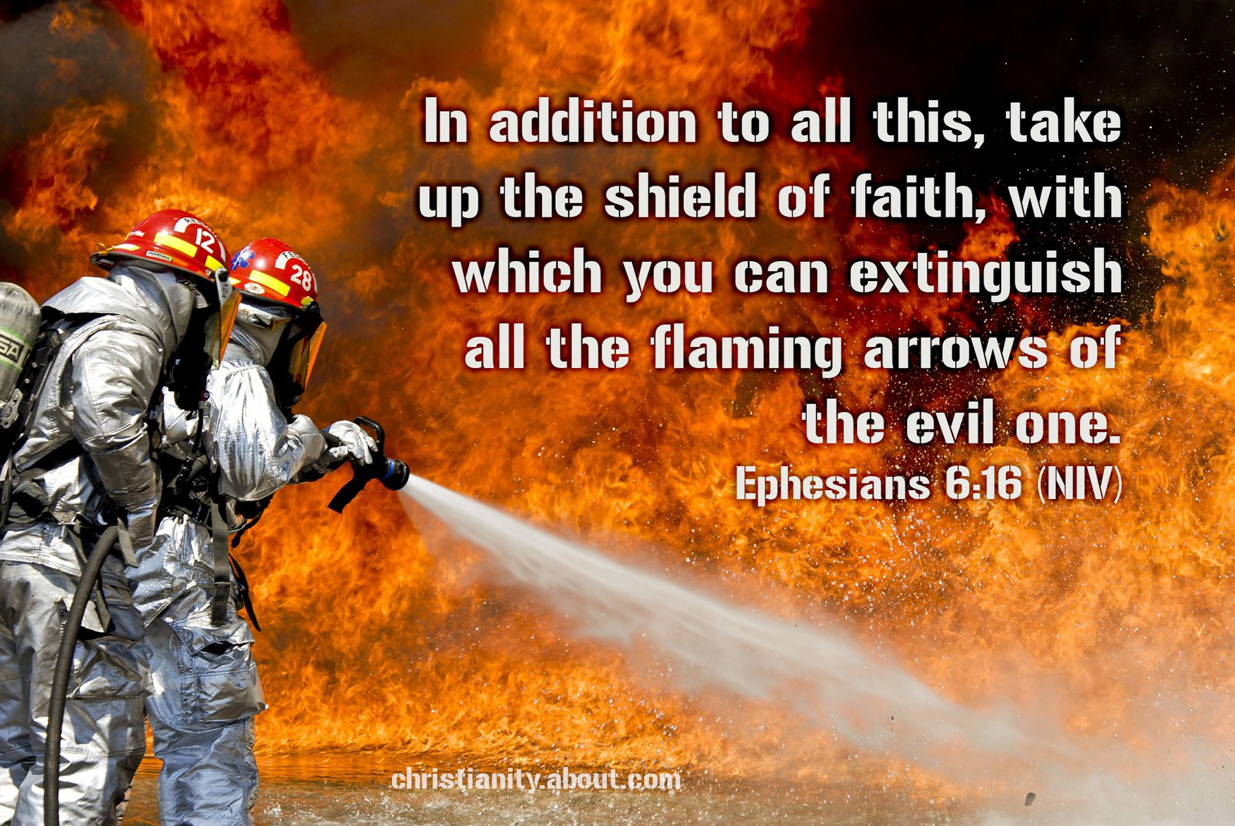flaming arrows ephesians 6 16 verse of the day