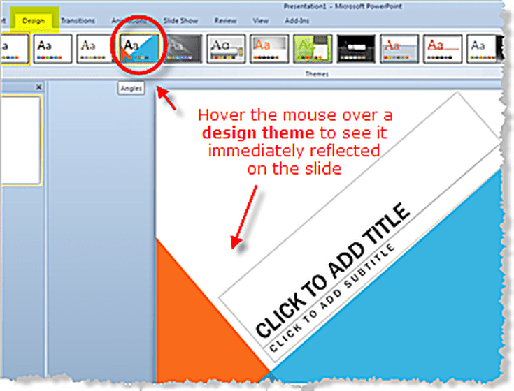 design themes in powerpoint 2010 presentations, Modern powerpoint