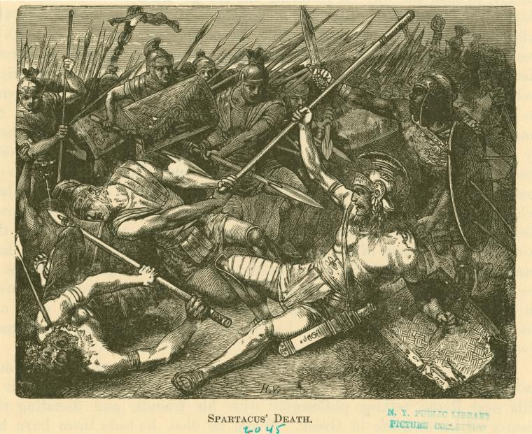 Spartacus' death. (1882)