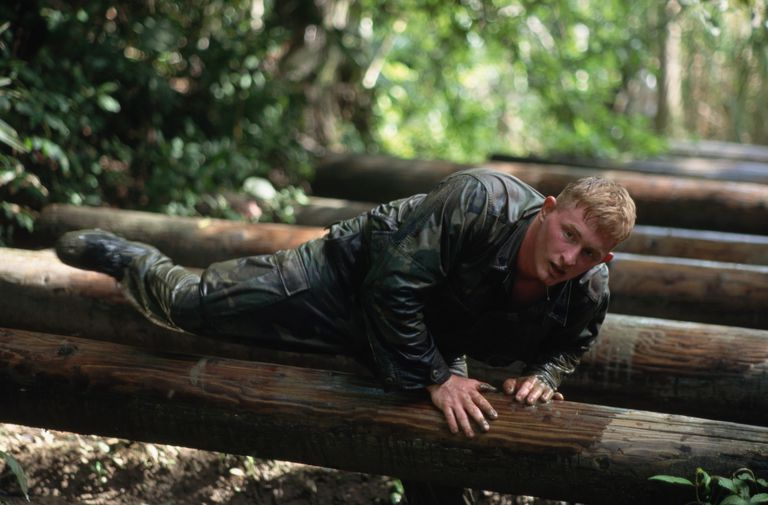Marine on obstacle course (physical requirement)