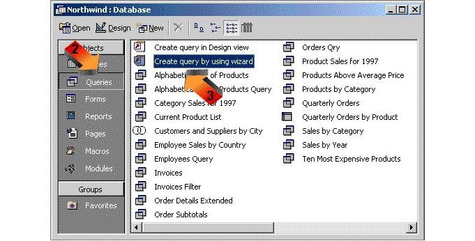 access sales database
