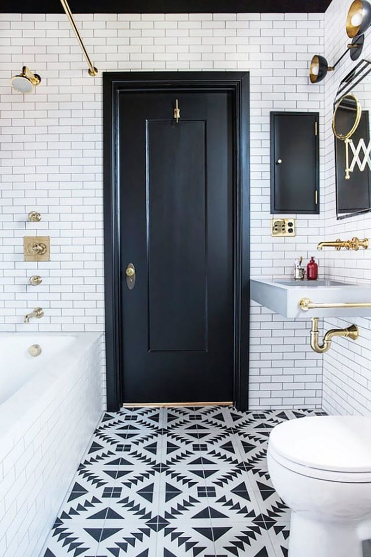 16 beautiful bathrooms with subway tile 15 bathrooms with amazing tile flooring doublecrazyfo Gallery
