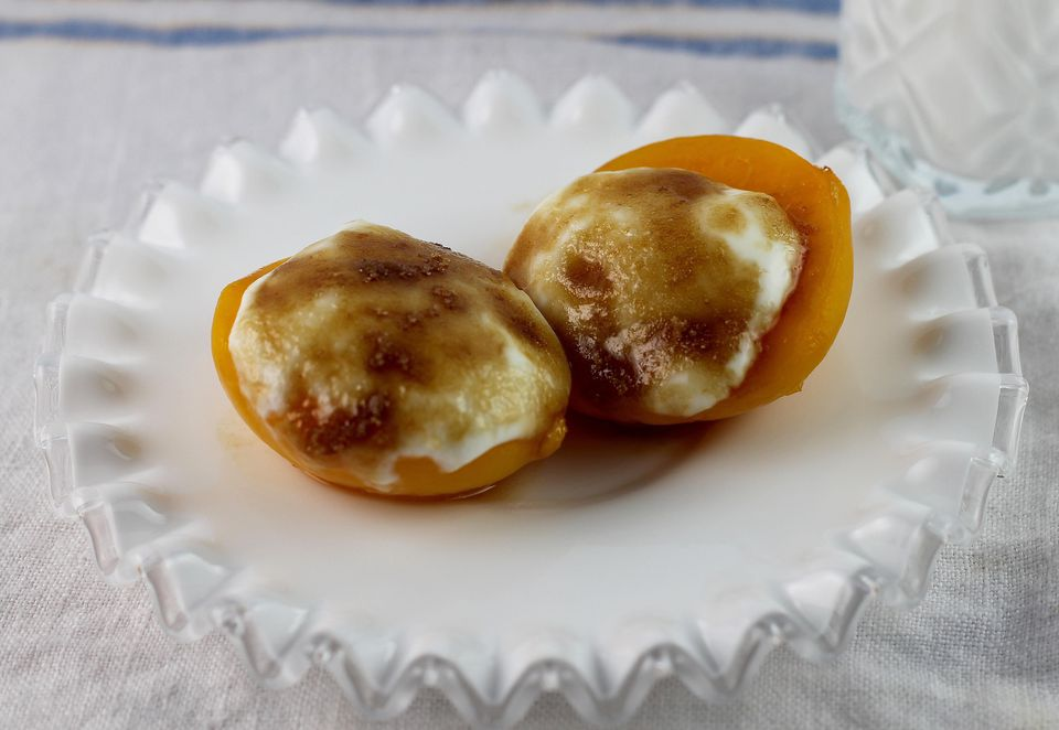 Peach Creme Brulee