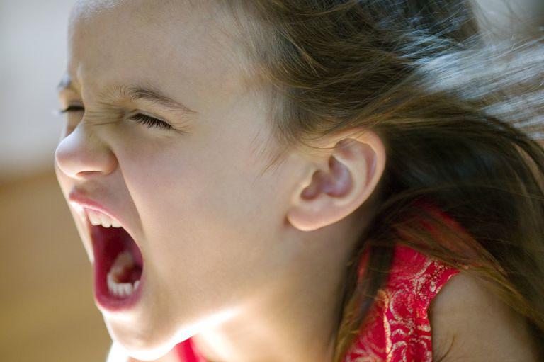 disruptive behavior disorders - girl screaming