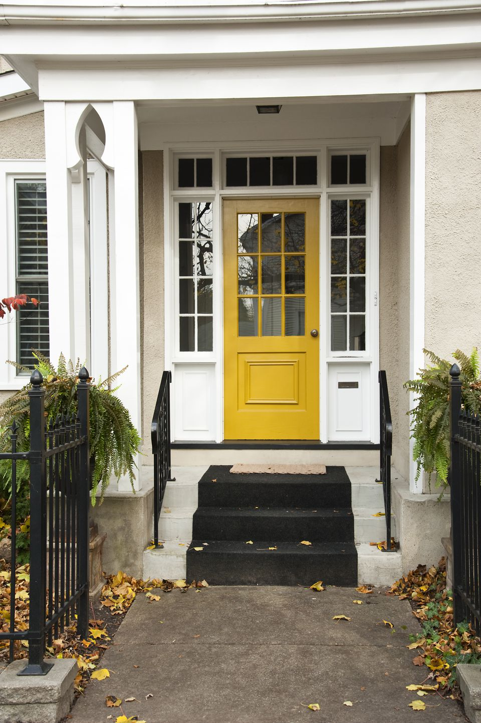 white front door yellow house. white house yellow door front l