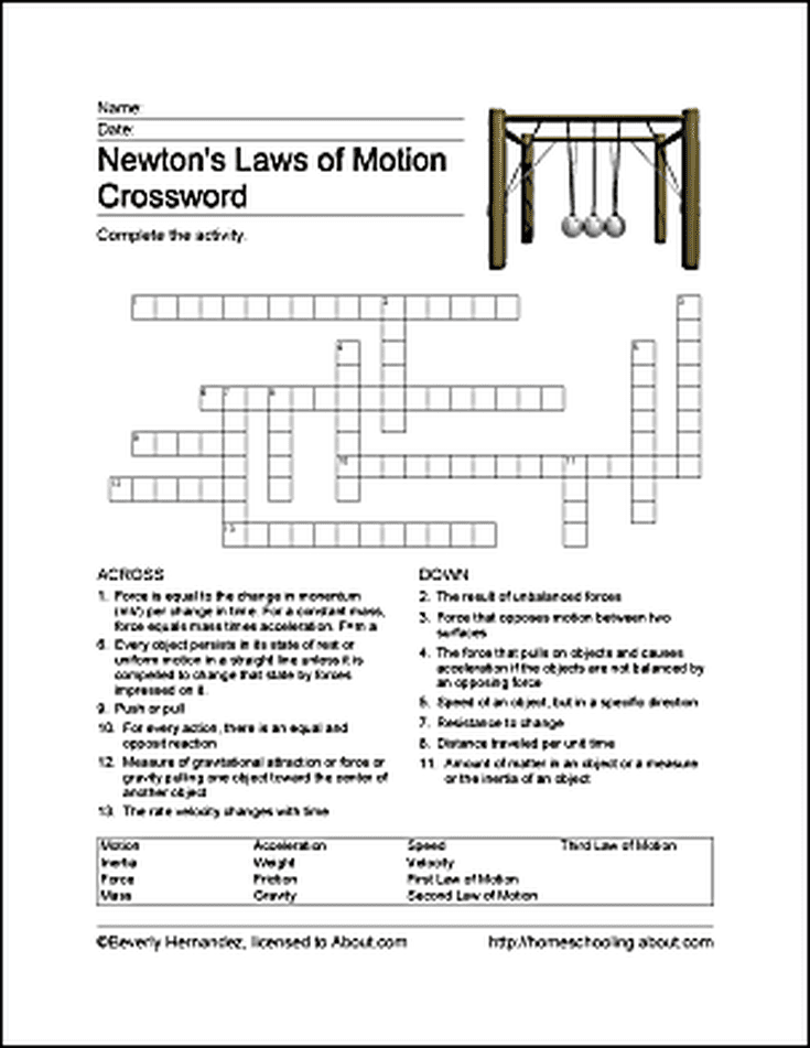 Newtons Laws of Motion Homeschooling Science – Universal Law of Gravitation Worksheet