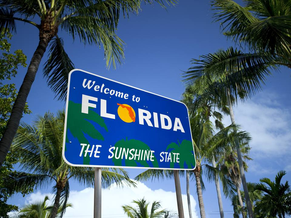 Welcome to Florida USA sign