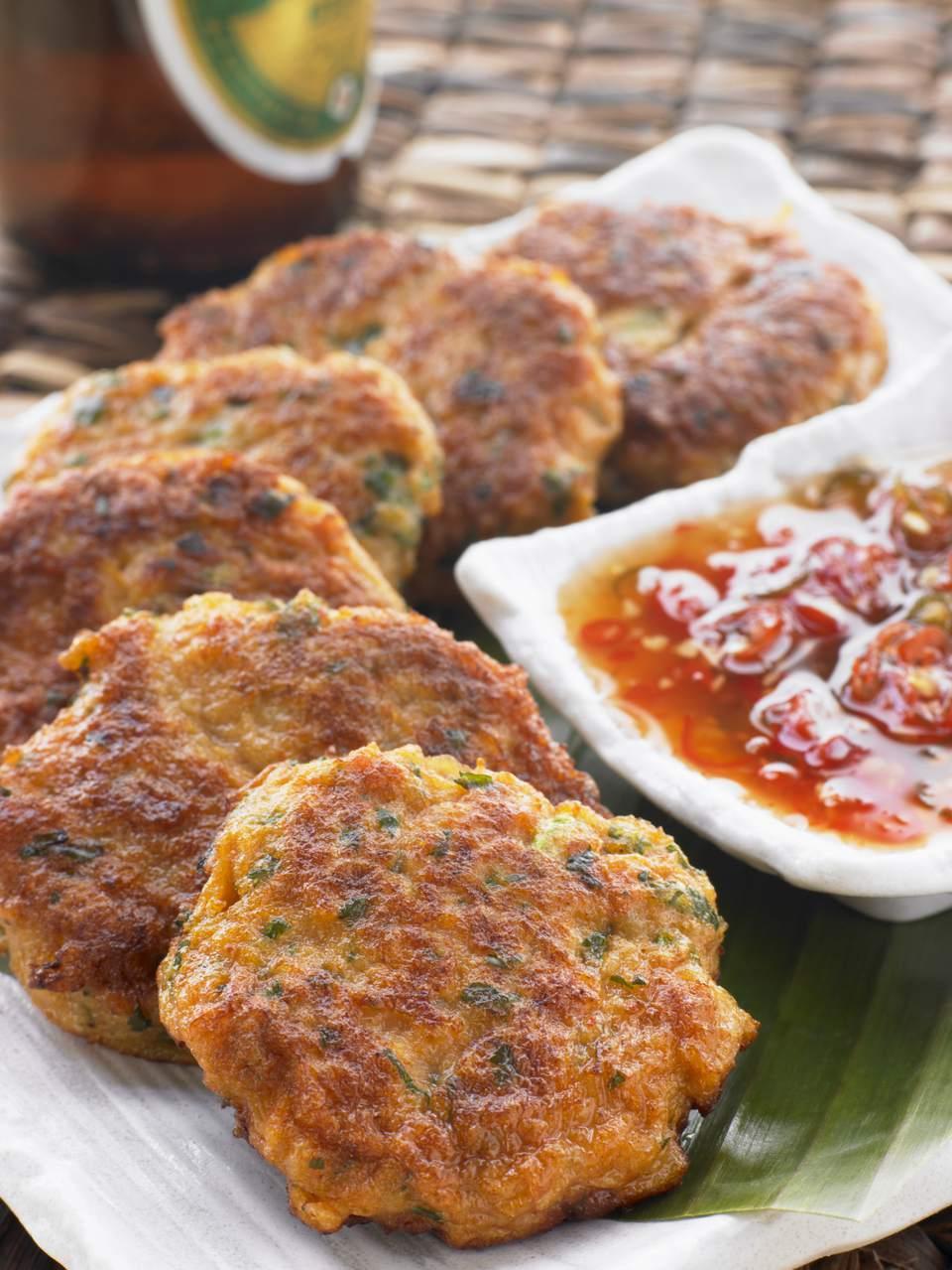 Thai Fish Cakes with Thai Sweet Chilli Sauce