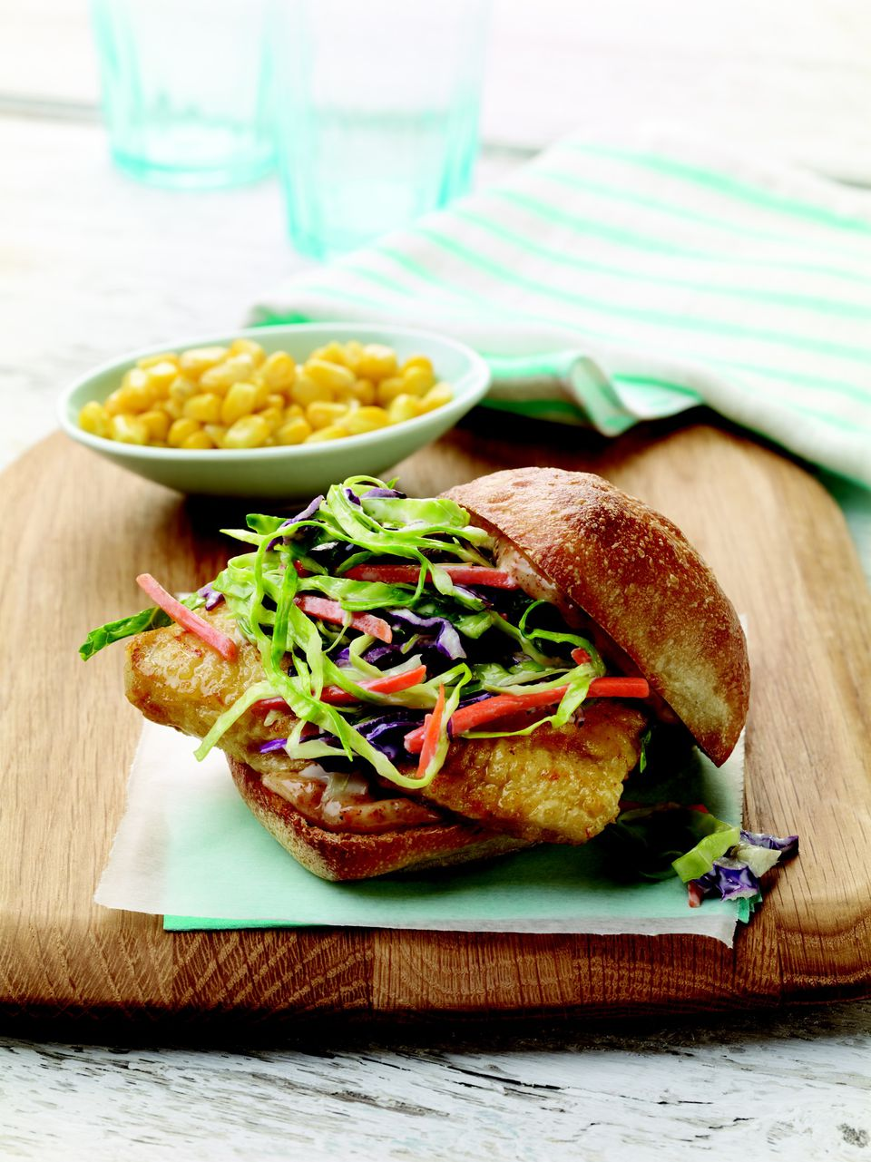 Cajun fish sandwiches with crunchy slaw for Good fish sandwich near me
