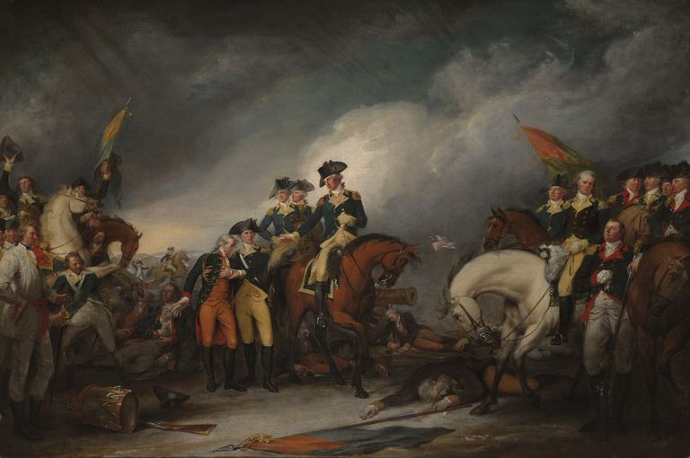 The Capture of the Hessians at Trenton, December 26, 1776, by John Trumbull