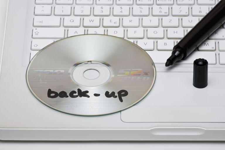 Backup written on CD